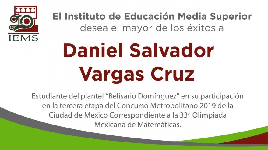 Estudiante del IEMS en la Olimpiada de Matemáticas de la Ciudad de México