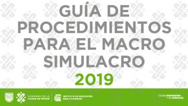 Guía de Procedimientos para el Macro Simulacro 2019