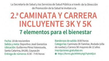 """2da. Caminata y Carrera Incluyente """"7 Elementos para el Bienestar 2019"""""""