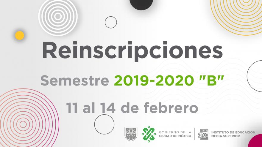"""Reinscripciones 2019-2020 """"B"""""""
