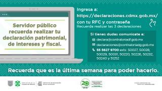 Declaraciones Patrimonial, de Intereses y Fiscal 2020