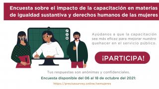 Encuesta sobre el impacto de la capacitación en materia de igualdad sustantiva y derechos humanos de las mujeres